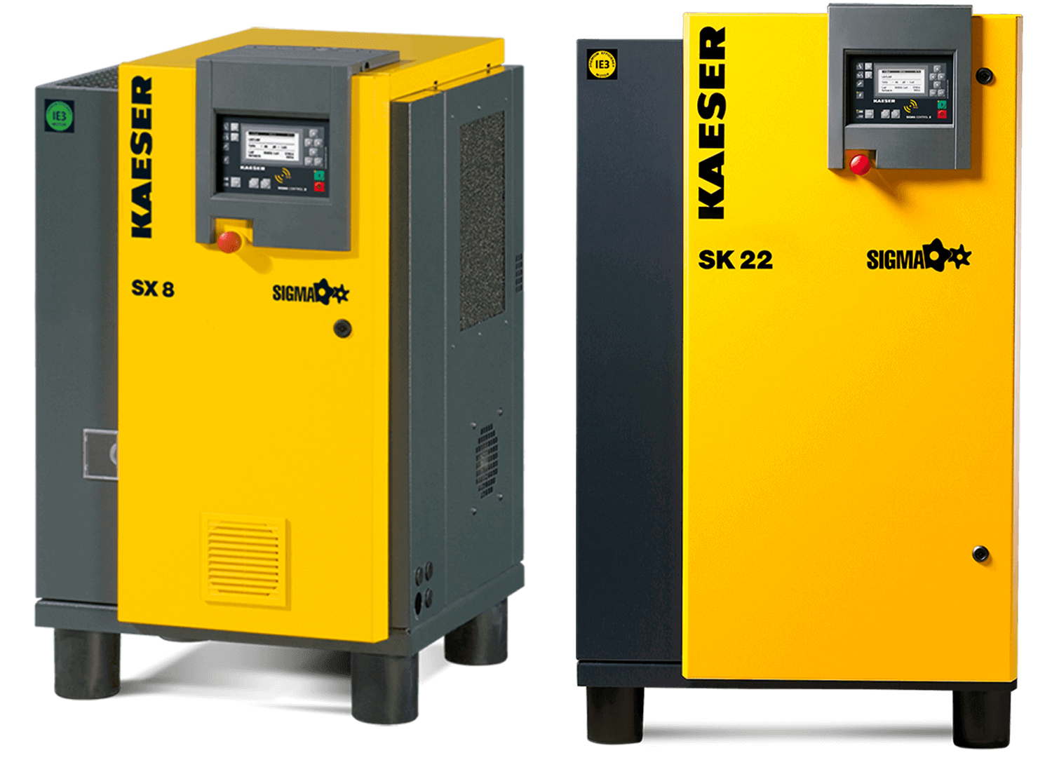 ROTARY SCREW COMPRESSORS WITH FLUID COOLING