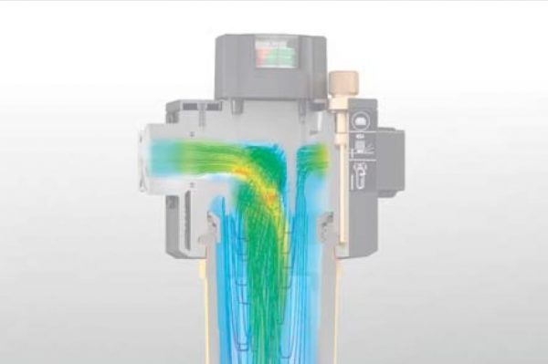 Optimum flow distribution of compressed air