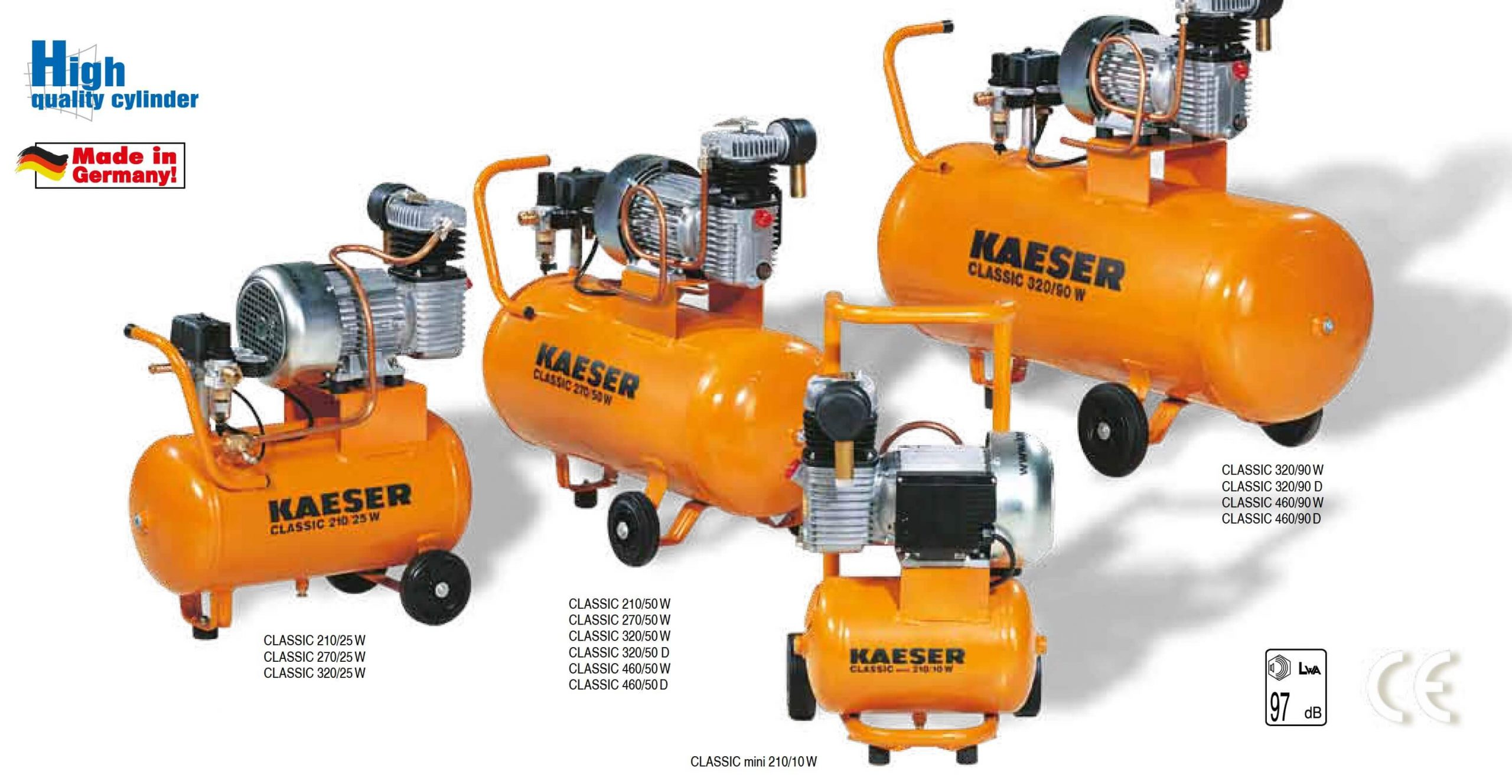 CLASSIC mini 210/10 W to CLASSIC 460/90 D